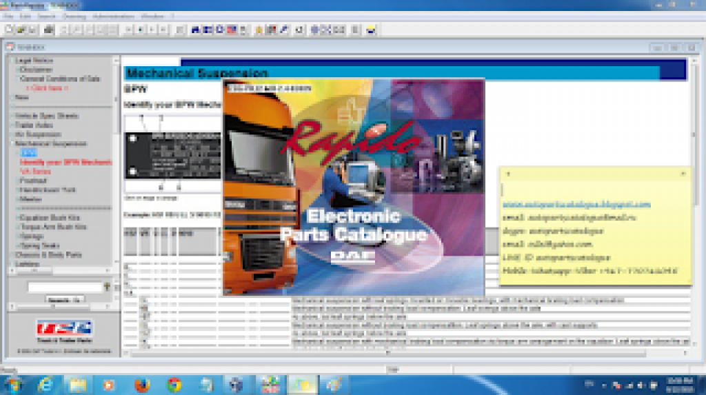 DAF RAPIDO EPC Parts Catalog - AutoPartsCatalogue