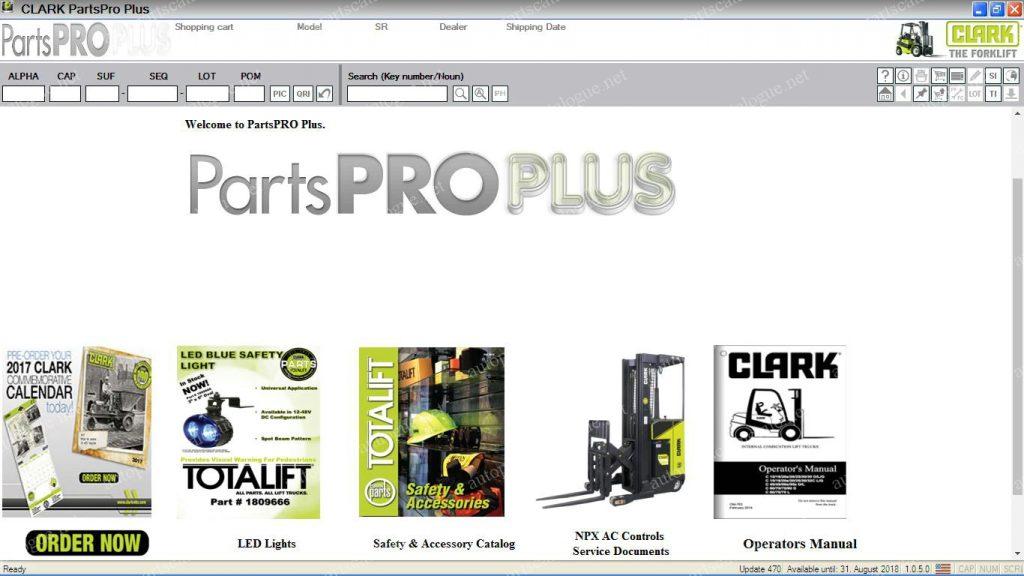 Clark Forklift Parts PRO [09 2018] Parts Catalog & Service