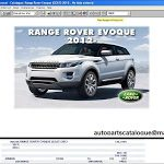 Land Rover / Range Rover EPC Spare Parts Catalog
