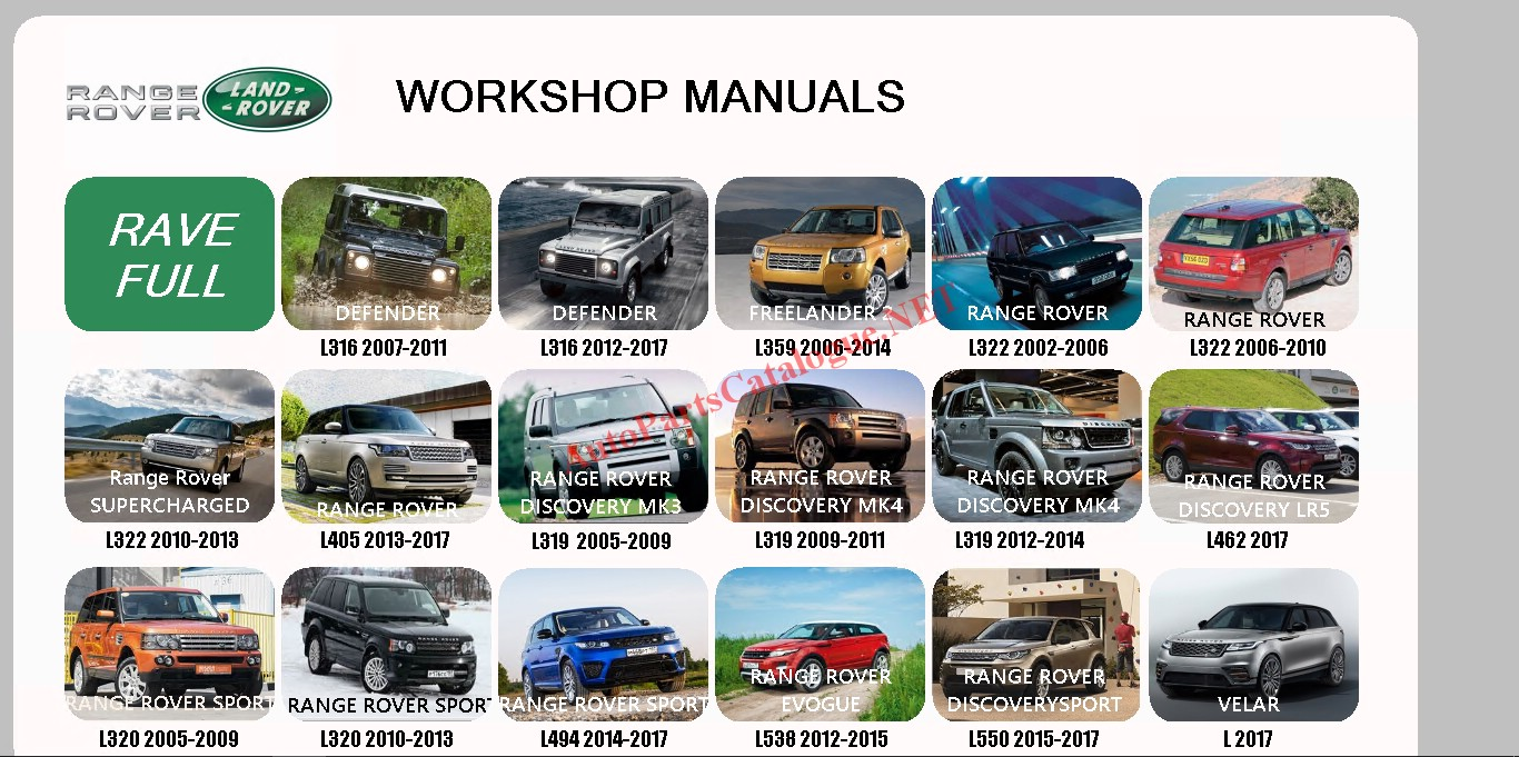 Land Rover Workshop Manual, Service Manual 2017