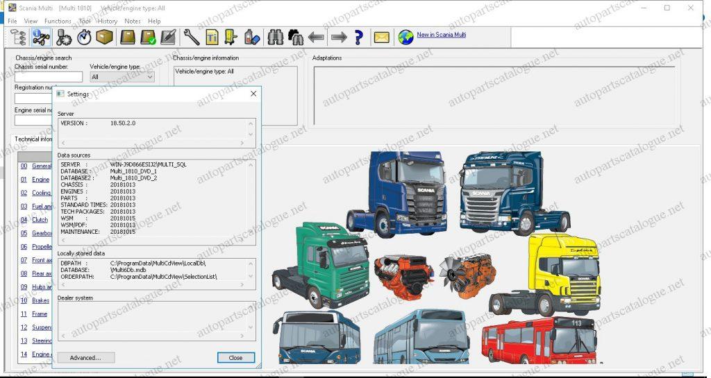 Scania Multi 2019 Parts Catalog & Service Manuals -
