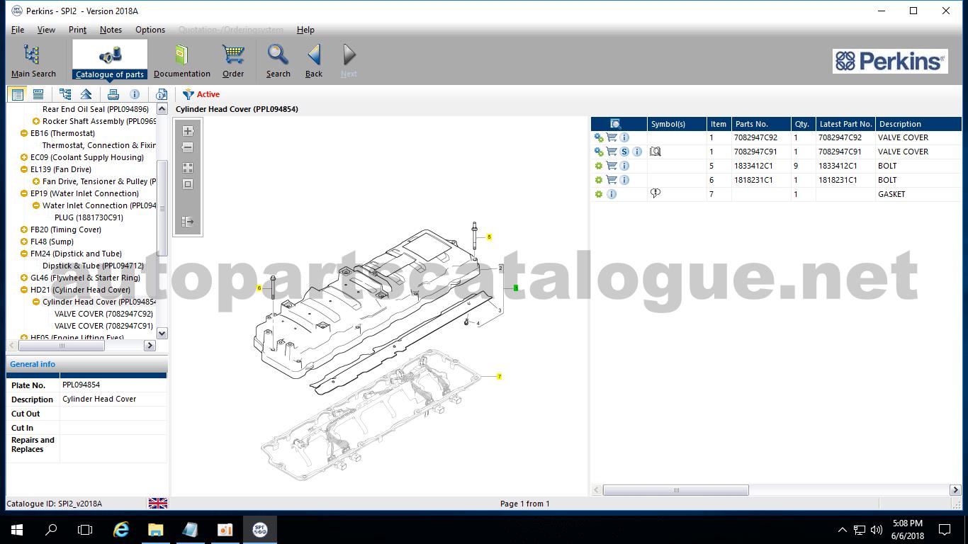 PERKINS SPI Parts Catalog and service Manuals