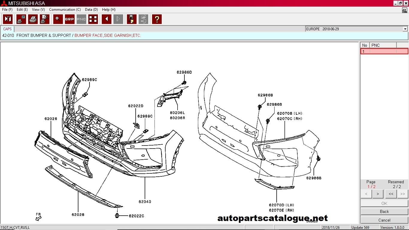 Mitsubishi MMC ASA Parts Catalog  052019  All Regions