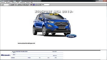 Ford Microcat Asia Pacific & Africa [09/2020] Parts Catalog