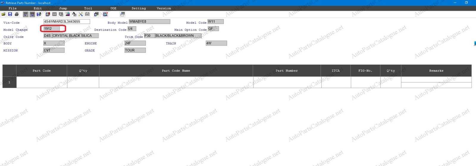 SUBARU EPC3 USA Spare Parts Catalog