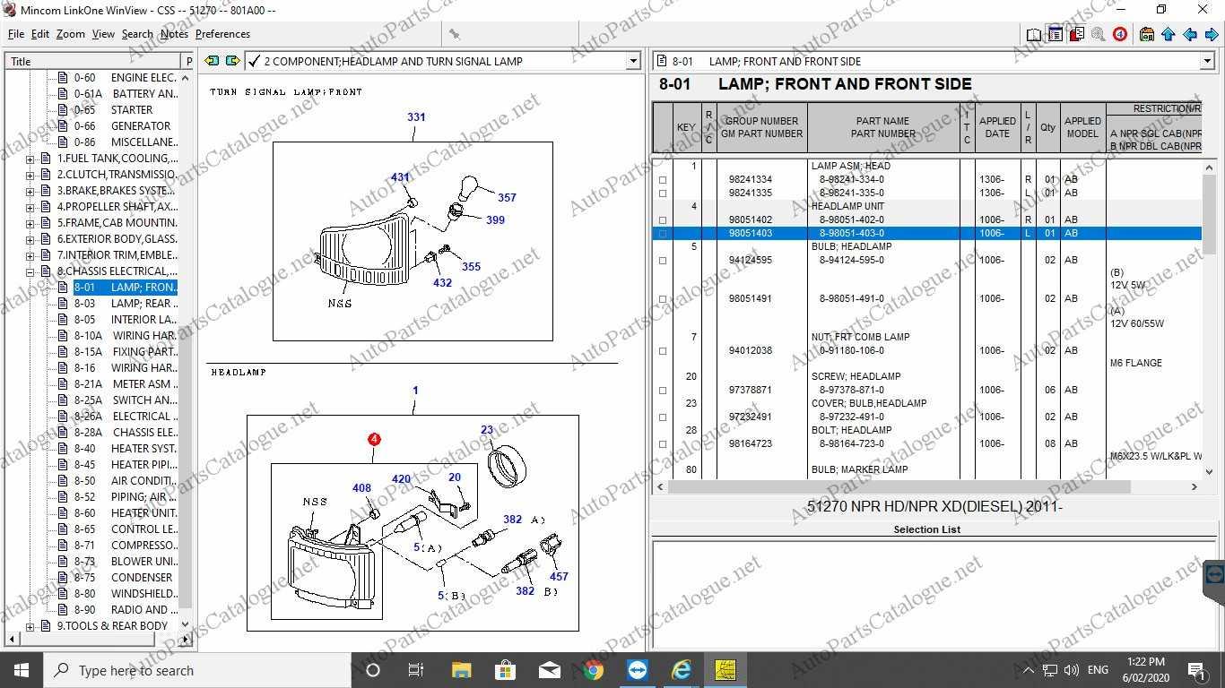 ISUZU CSS NET Spare Parts Catalog +VIN Decoder