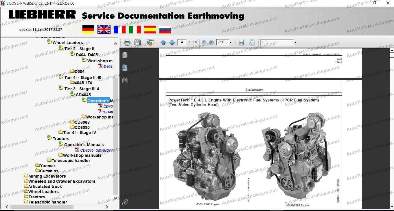 Liebherr Lidos Parts & Service Manuals Offline