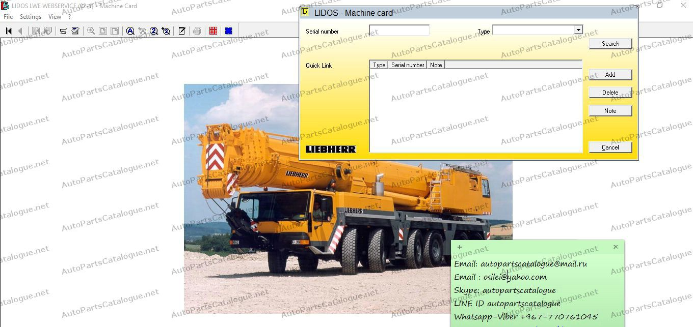 Liebherr Lidos Parts & Service Manuals Offline