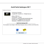Caterpillar Electronic Technician (Cat ET 2020A) + Factory Password