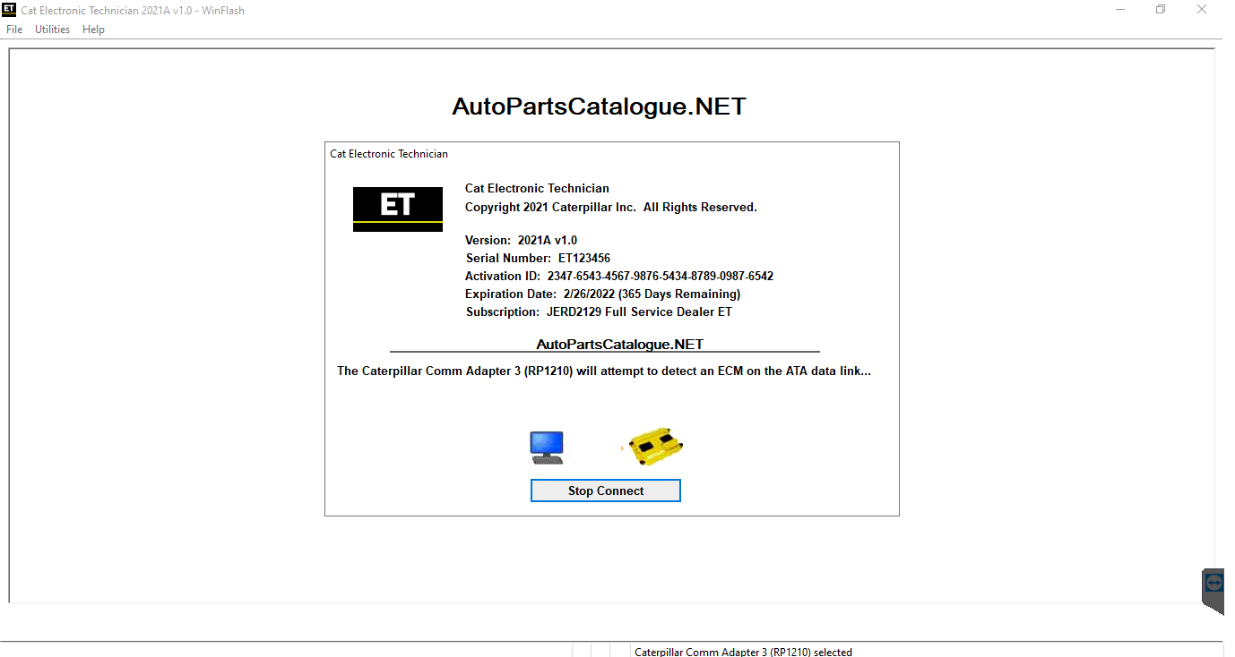 Caterpillar Electronic Technician (Cat ET 2019C) Full Service Dealer