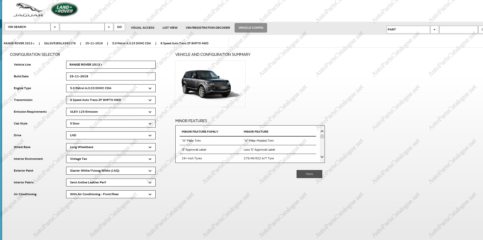Jaguar Land Rover Jlr Epc 2021 Online Dealer Parts Catalog