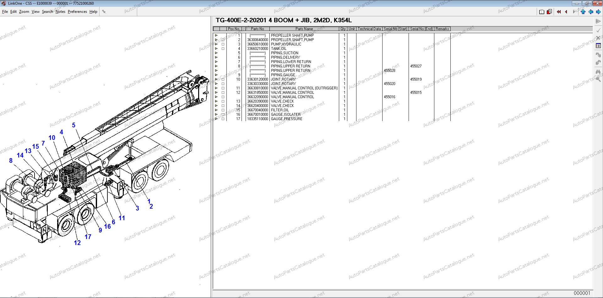tadano spare parts catalog  2020  all models download