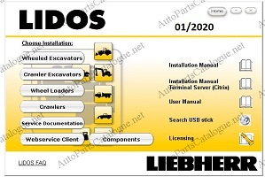 Liebherr Lidos Offline 2020 Parts Catalog & Service Manuals