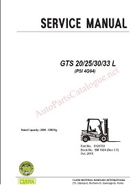 Clark Forklift Trucks Service Repair Manuals [2021] PDF SET