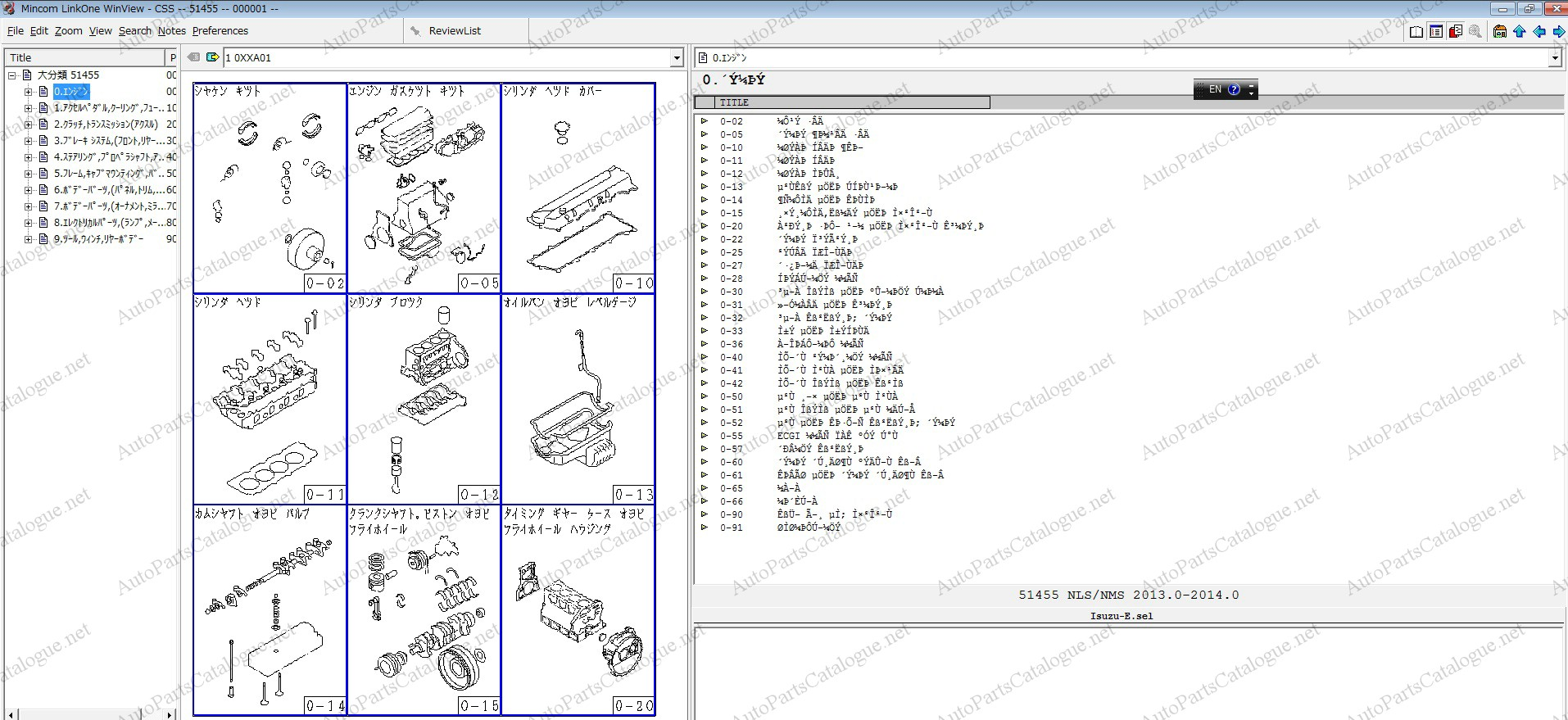 ISUZU JAPAN Spare Parts Catalog +VIN Decoder