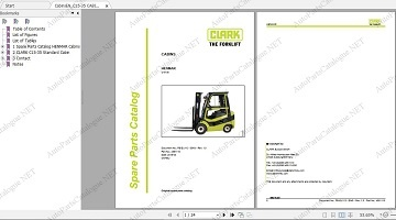 Clark Forklift trucks Parts Manuals [2020] PDF Set