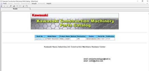 Kawasaki Wheel Loaders EPC | Parts Catalog