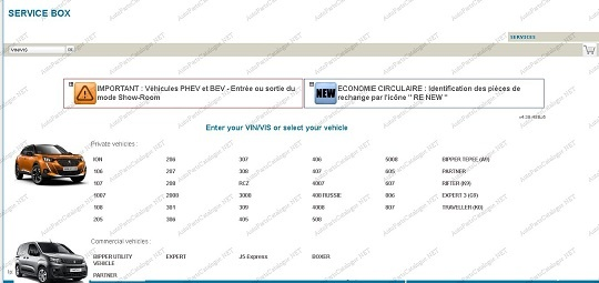 Peugeot Service Box 2021 Online Dealer Parts Catalog