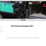 Mitsubishi Forklifts MCFE, MCFS, MCFA, [2021] Parts & Service Manuals