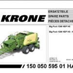 Krone Agricultural Equipment Part Manuals 2021 PDF